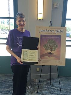SCGSGenealogical Society Blog. Financial Secretary Peggy Schulz was honored with a Certificate of Appreciation for her dedication and outstanding service to both SCGS and Jamboree at the Jamboree banquet Saturday night, June 3, 2016.