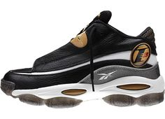 online store bf7e7 ab413 Reebok Answer 1 Black Gold Available Now