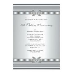 Silver Diamond 25th Anniversary Party Invitations We have the best promotion for you and if you are interested in the related item or need more information reviews from the x customer who are own of them before please follow the link to see fully reviewsDiscount Deals          Silver...