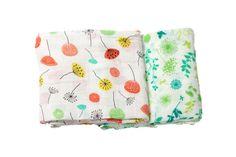 Organic Swaddle Blankets - Dandelion & Meadow