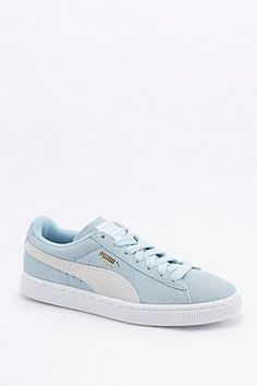Puma Suede Classic Blue Trainers - Urban Outfitters