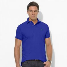 Ralph Lauren Men Darkblue Green Stickup Custom-Fit Mesh Polo  http://www.ralph-laurenoutlet.com/