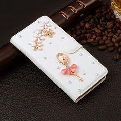 Samsung Vintage Style Rhinestone Wallet Phone Case
