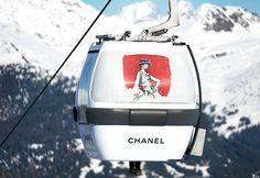 Cabinas Chanel en la estación de esquí de Courchevel