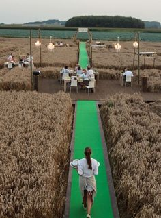 Award winning pop-up restaurant in corn field by FastForward Events (Ghent) for new product of Come a Casa - Origineel pop-up restaurant in Brabants korenveld wint Europese prijzen