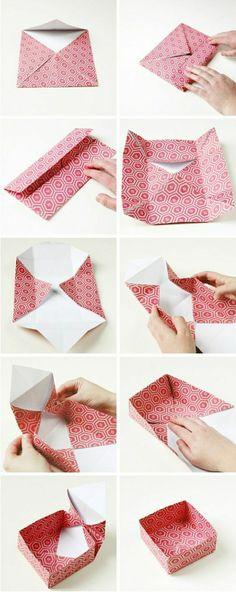 pliage origami en papier rouge, comment faire un origamie DIY idée