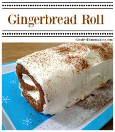 This gingerbread roll cake is absolutely delicious and a great addition to your holiday table.