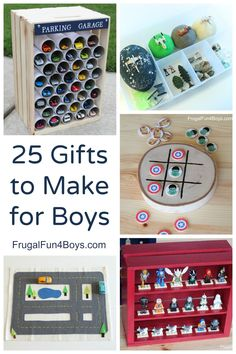 Last year, I shared a post with gifts to make for boys, and I'm back with 25 more homemade gift ideas! Of course these are not meant to be *only* for boys. If your daughter would like these ideas, then go for it! This is just meant to be a resource for people who are …
