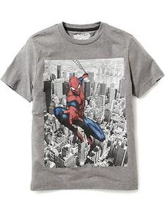 Marvel Comics™ Spiderman Graphic Tee for Boys Marvel Kids, Cool Graphic Tees, Man Thing Marvel, Maternity Wear, Boys T Shirts, Simple Outfits, Branded T Shirts, Boy Outfits, Spiderman