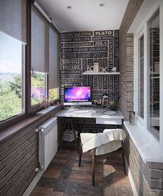 Как обустроить домашний офис на балконе – фото
