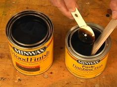 How to make and use a dark paste wax (for over chalk paint)