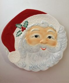 "Excited to share the latest addition to my #etsy shop: Vintage Ceramic Santa Claus Platter 14"" with Box #serving #christmas #ceramic #santaclaus #platter #cookieplate"