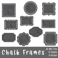 8cdf94712314 Chalk Frames and Borders Clip Art - Commercial Use Clipart - 40 Images in  PNG format