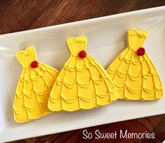 Beauty and the Beast Cookies | CatchMyParty.com