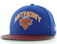 New York Knicks Carmelo Anthony NBA Players 59Fifty Fitted Baseball Cap by NEW  ERA x NBA 740e469b978b