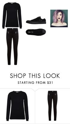 """""""Emo"""" by panickingalways ❤ liked on Polyvore featuring J Brand and Converse"""