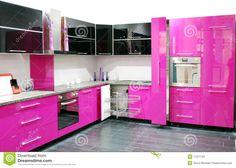 pink kitchen - Google Search