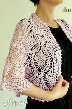 Patrón #1827: Lindo Chal Redondo a Crochet ~ CTejidas [Crochet y Dos Agujas]