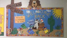 Western and Reading Themed Back To School Bulletin Board Idea