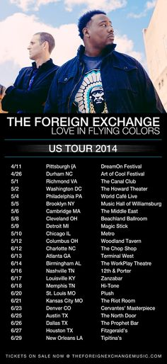 The Foreign Exchange - US Tour 2014