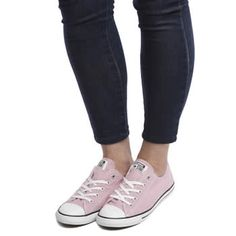 c702dfb02ac Womens Converse pale pink all star dainty ox trainers