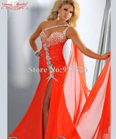 2015 Viman s Bridal Red Evening Dress Beading Crystal One Shoulder Floor  Length Mermaid Robe De Soiree Free Shipping AN110-in Evening Dresses from  Weddings ... 1ea83328bd36
