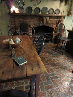 primitive kitchen brick floor - Bing Images More #PrimitiveKitchen