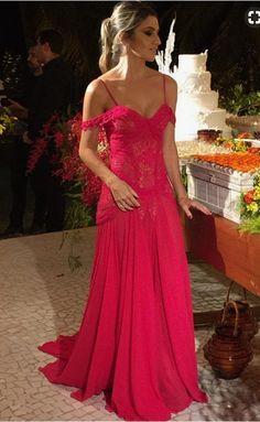 Plum - red chiffon shoulder ball gown. That #prom #promdress #dress #eveningdress #evening #fashion #love #shopping #art #dress #women #mermaid #SEXY #SexyGirl #PromDresses
