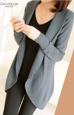 new Win-win autumn winter fashion Women long sleeve Knitted Sweater Cardigans outerwear shawl knitwear