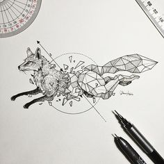Kicking off a new series. #GeometricBeasts | Fox  - Kerby Rosanes (@kerbyrosanes) - gramcommunity is the best instagram web-viewer