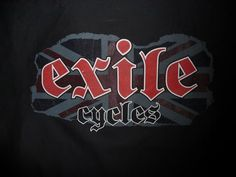 Exile Cycles - faded union jack - Dickies Black Workshirt Union Jack, Cycling, Bike, Bobbers, Cafe Racers, Classic, Favorite Things, T Shirt, Clothes