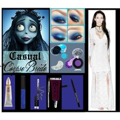 Make this Corpse Bride semi-casual or go all the way and make it your Halloween costume! Featuring Obsessive Compulsive Cosmetics, Senna Cosmetics, Urban Decay, Manic Panic, and NYX.