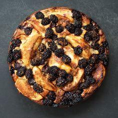 // Blackberry Apple Cake
