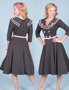 """Ashley circle - Rockabilly Clothing - version of the """"Captain dress"""""""