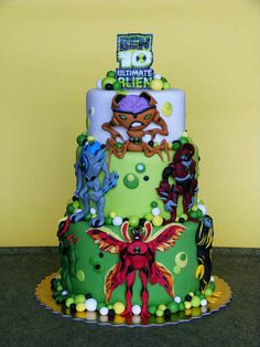 Ben 10 Ultimate Alien cake| My little boy would want this for his birthday ...