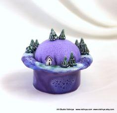 Lavender planet - Pincushion and Decorative Pins by vavaleff.deviantart.com on @deviantART