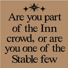 more than sayings: Are you part of the Inn crowd