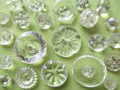 Vintage Clear Buttons