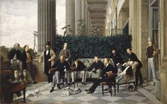 """James Tissot """"The Circle of the Rue Royale"""" 1868 (Musee d'Orsay, Paris)"""