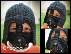 PATTERN Darth Vader Crochet Hat you can sell door MyLittleChapina
