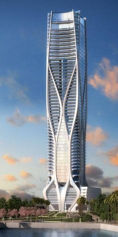 One Thousand Museum Condo Tower, Miami, Florida by Zaha Hadid Architects :: 60 floors, height 215m