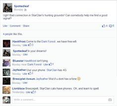 Warrior Cats On Facebook 6 by TinyclawWarriorCats.deviantart.com on @deviantART