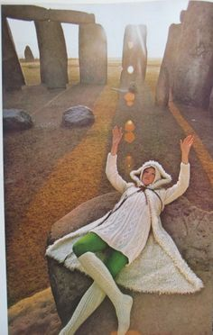Stonehenge, By Photographer Norman Parkinson For Vogue, October 1970