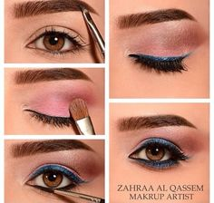 Easy Simple Makeup With A Pop Of Color