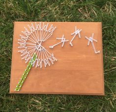 String Art Hand painted, nailed and strung. Measures 10 inches x 8 inches