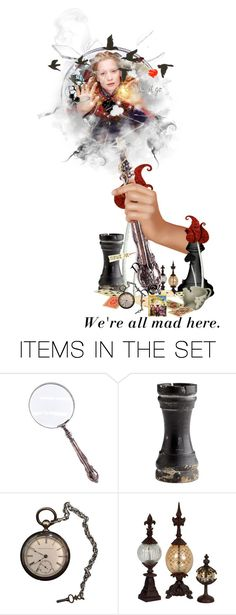 """""""Through the looking glass"""" by majibitca ❤ liked on Polyvore featuring art, contestentry and DisneyAlice"""