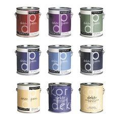 Packaging pintura Paint Brands, Packaging Design Inspiration, Brand Packaging, Interior Paint, Package Design, All Design, Coffee Cans, Product Design, Paint Colors