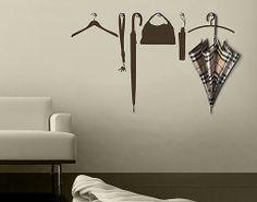 Wall Decal Hook No.rs18 Coat Rack Wall Sticker Handbag Clothes Hanger Accessory