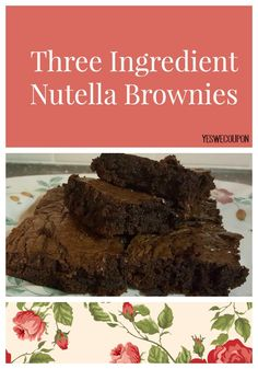Make this easy Nutella Brownies Recipe that is just what you need for a special treat with an ice cold glass of milk! Brownies & dessert never tasted so good!
