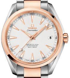 231.20.42.21.02.001 Omega Aqua Terra 150m Master Co-Axial 41,5 mm - швейцарские мужские наручные часы - золотые, стальные, белые
